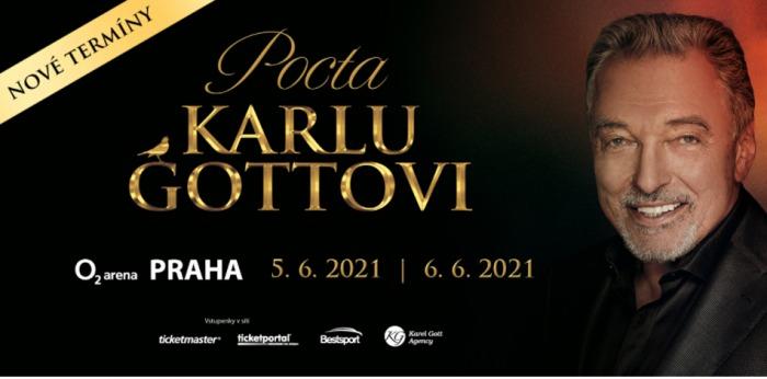 Koncerty v pražské O2 areně Pocta Karlu Gottovi se posunují, z důvodu šířícího se onemocnění COVID-19, na červen 2021