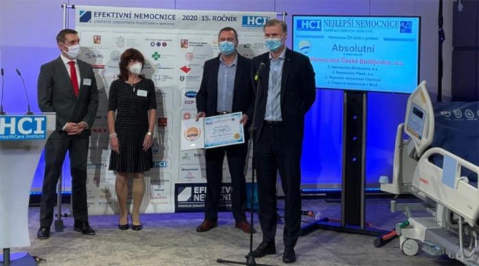 Absolutním vítězem projektu Nejlepší nemocnice ČR 2020 je Nemocnice České Budějovice