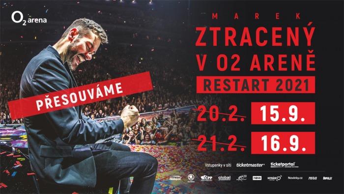 Marek Ztracený přesouvá koncerty v O2 areně na září 2021 a zároveň vydává nové DVD