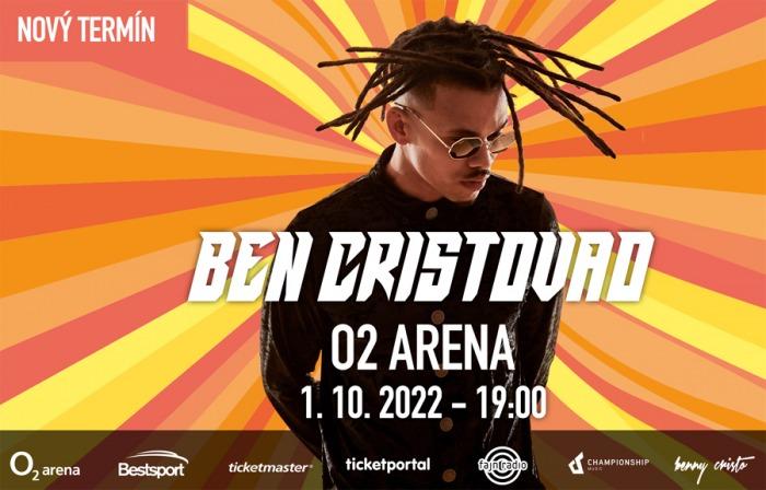 Koncert Bena Cristovao v O2 areně se přesouvá na 1. října 2022