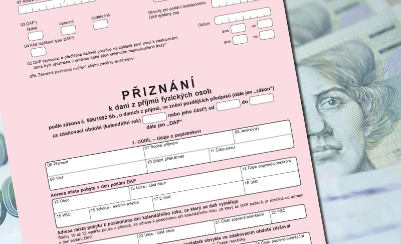 Pozor na nejčastější omyly při podání daňového přiznání