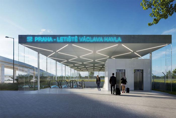 Příprava novostavby stanice Praha-Letiště Václava Havla vstupuje do finální fáze