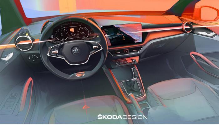 První náhled interiéru nového modelu ŠKODA FABIA