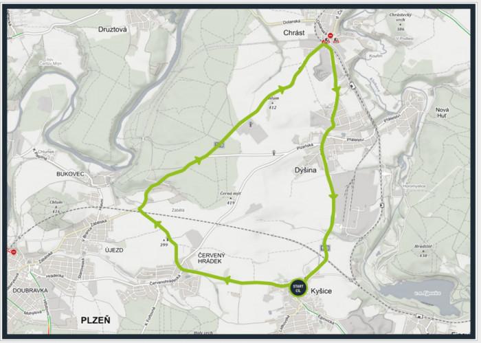 Cyklistický závod, který proběhne v neděli 2. května, částečně zasáhne do plynulosti provozu na Plzeňsku