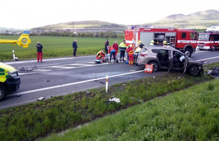 Při střetu osobního a nákladního auta u Rané byli zraněni dva lidé