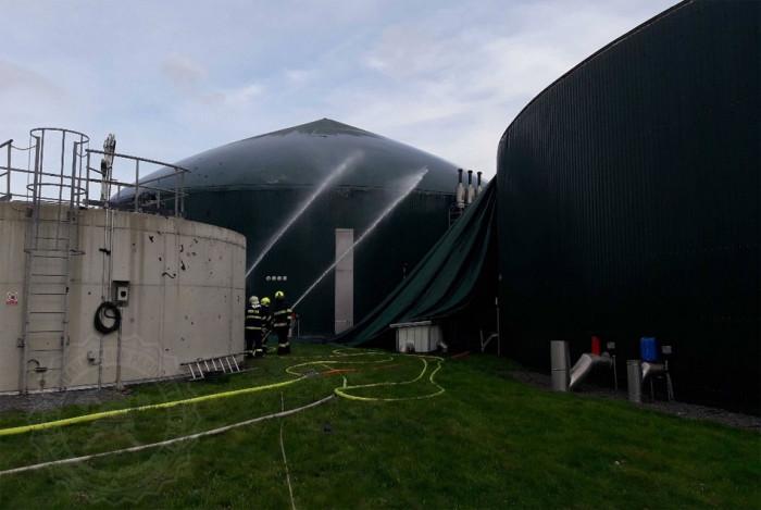 V Dětřichově u Moravské Třebové došlo k požáru bioplynové stanice, 3 osoby byly zraněny