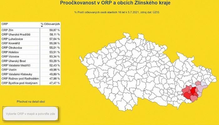 Zlínský kraj má nejméně nakažených s covid-19 v České republice