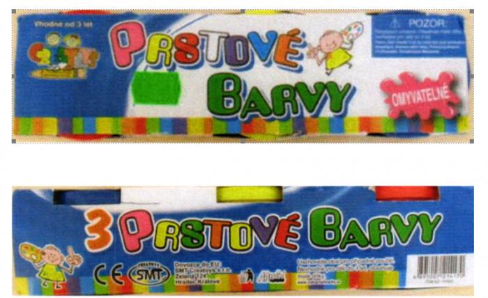 Česká obchodní inspekce zakázala na trhu výrobek s názvem Prstové barvy CREATOYS
