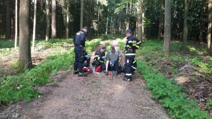 V Lipolticích hasiči s policií pátrali po zmizelém starším muži