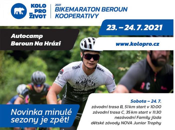 Bikemaraton Beroun Kooperativy uzavře v sobotu 24. července náměstí