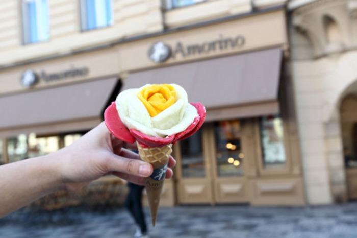 Sv�tozn�m� italsk� zmrzlin��stv� Amorino poprv� v��esku