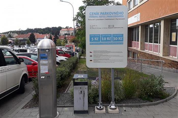 Platba parkovného v Třebíči je jednodušší prostřednictvím aplikace MPLA