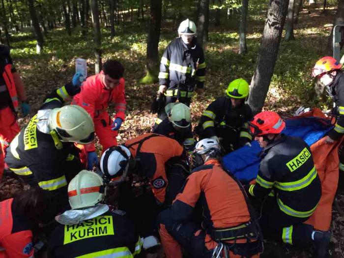 Mladá dívka se nedaleko Kuřimi zranila při pádu z koně, na místo letěl i vrtulník LZS