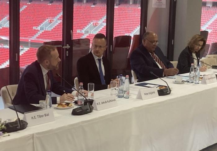 Ministr Kulhánek se v Budapešti zúčastnil setkání šéfů diplomacií zemí V4 a Egypta