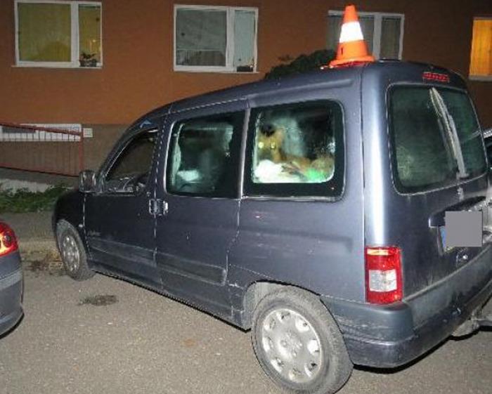 Při couvání narazila opilá řidička  do jiného automobilu, měla 3,76 promile alkoholu