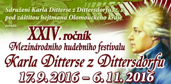 Mezin�rodn� hudebn� festival Karla Ditterse z Dittersdorfu pln� jedine�n�ch koncert�
