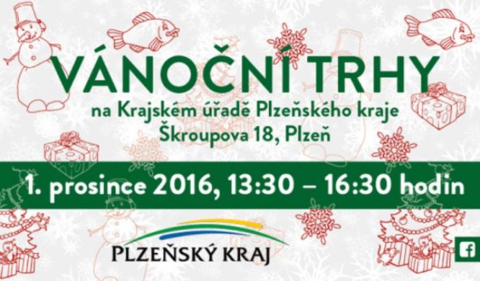 Vánoční trhy na Krajském úřadě Plzeňského kraje nabídnou i letos tradiční zboží