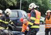Na Nymbursku zasahovali hasiči u tragické havárie osobního auta